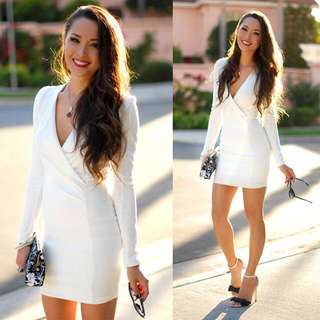 Sexy White Body Con Dress