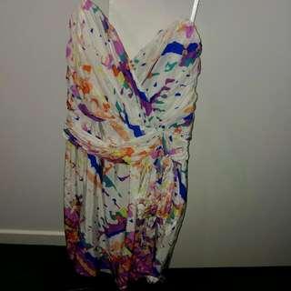 Forever New Strapless Dress 12 (fits 10)