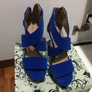 Royal Blue High Heels Sandals