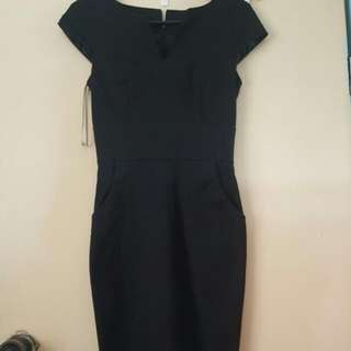 Black Forcast work dress - size 6 with pockets
