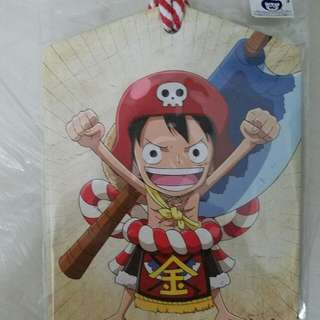 One Piece  名信片(木製)made in Taiwan