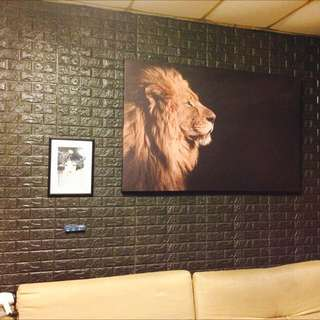 3D 立體彈性壁貼 60cm X 30cm文化石磁磚款(牆貼 壁紙 防撞 防潮 壁癌 防水 抗菌 防蛀)