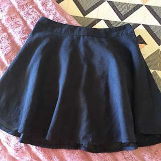 Size 12 Faux Suede Skirt Navy