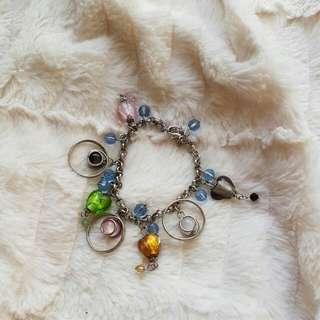 Glass Bead Charm Bracelet