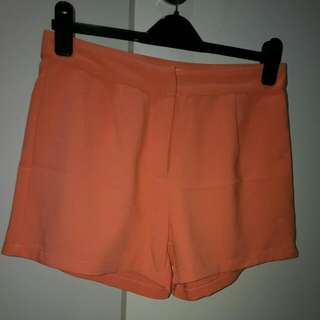Valleygirl Orange Shorts 10