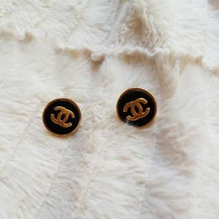Imitation Chanel Button Studs