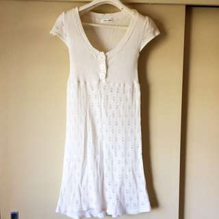Pretty Light Cream Colour Size S/M Dress