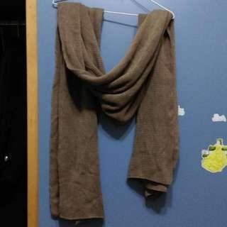 羊毛長圍巾