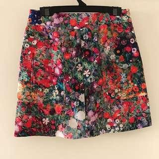 NANA Floral Watercolour skirt | Size 8