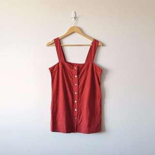 Red Pinafore Dress/Singlet
