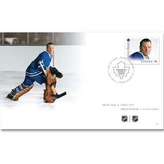 Johnny Bower Toronto Maple Leafs Hockey Goalies - Canada First Day Cover