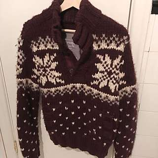 Men's Hand Knit Abercrombie Sweater