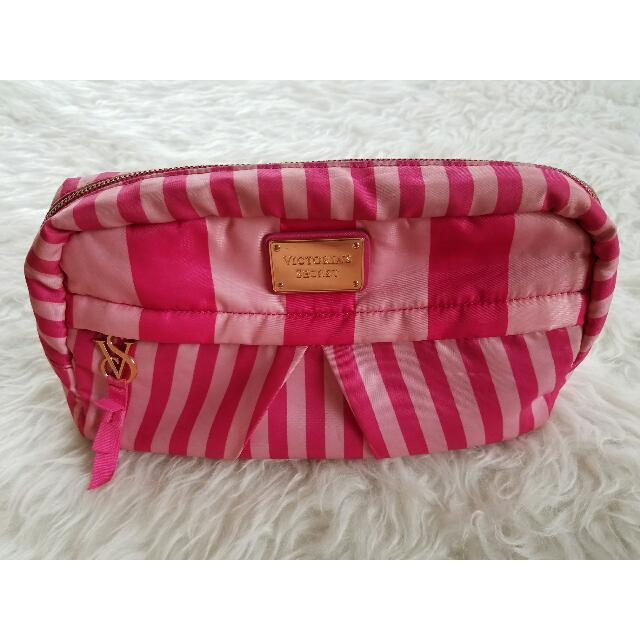 100% AUTHENTIC large Victoria's Secret pouch