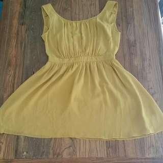 Mustard Dress Size 10