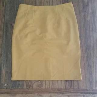 Mustard Suit Skirt Size 8-10
