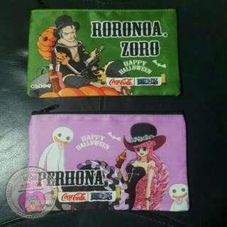 日本 可口可樂 海賊王 收納包 化妝包 索龍 培羅娜