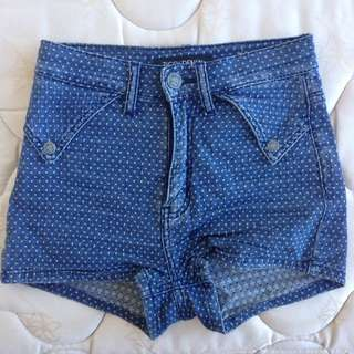 Fitted Denim Shorts Size 24