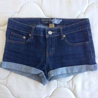 Dark Denim Shorts Size 8