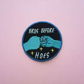 BROS BEFORE HOES IRON-ON PATCH
