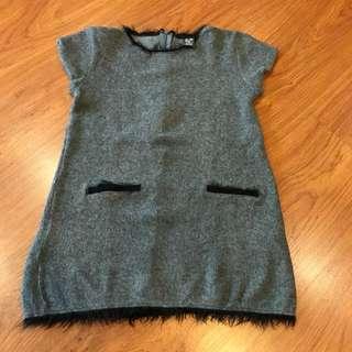 Preloved Grey Girls Dress Age 5-6
