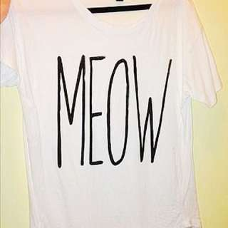 Forever 21 Meow Graphic T-Shirt