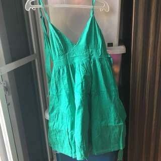 Topshop Green Beach Dress