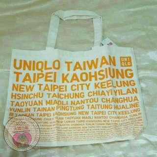 UNIQLO 台灣獨家設計款 托特包 橘色