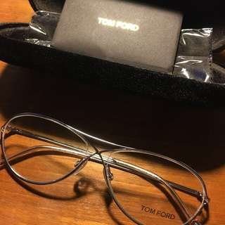 Tom Ford Classic Silver Aviator Eyeglasses Frame