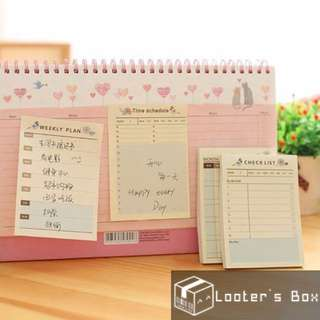 Time Schedule Checklist Planner Sticky Note (G)