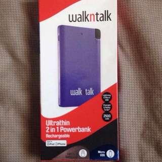 Walk'n'Talk ultra Thin 2500mAH Portable Pone Charger