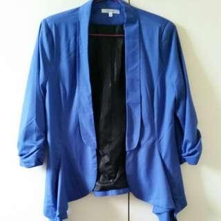 Blue Valley Girl Formal Jacket - Size 10