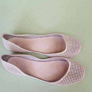 Sparkly Silver Melissa Flats