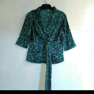 Monochrome Outer Kimono Batik