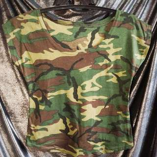 Camouflage Loose Top