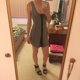 tight grey dress size 8