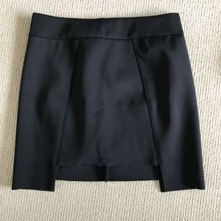 Sass & Bide Neoprene Black Small Skirt