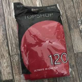 Topshop Red Stockings