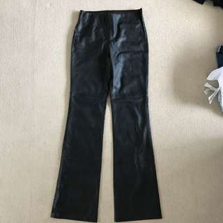 Zara Black Pleather Flair Pants US Medium (fits Size 8 Female)