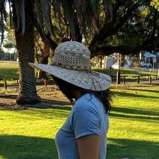 Floppy Wide Brimmed Straw Hat