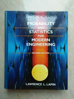 Probability & Statistics For Modern Engineering