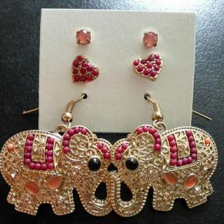 Elephant Matching Earrings