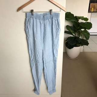 General Pants Co Light Blue / Denim Look Pants Size 8