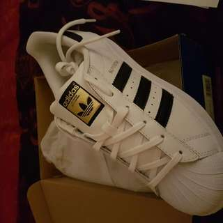 Adidas superstars Brand New.  Ordered From Adidas Recieved Wrong Size. These Are Mens 6. Should Have Been Ladies 6.  #adidas Paid $130
