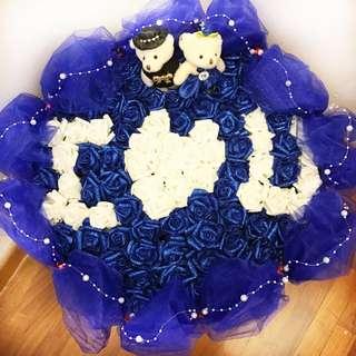 99 Flowers Teddy Bear Bouquet