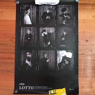 EXO Official Vol 3. Repackage Lotto Poster