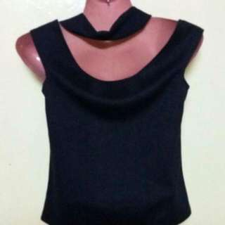 Black Medium Crop Top