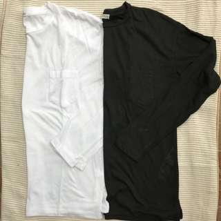 ZARA long Sleeve Shirt WHITE- S