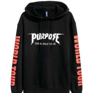 Justin Bieber X H&M Purpose Tour Hoodie (Black)