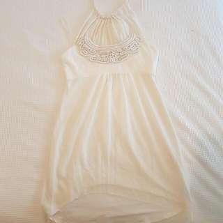 Maticevski Dress -White- Embroidered- Worn once- Designer