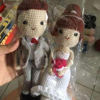 Hand Made Crochet Wedding Dolls